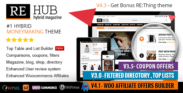 "Best wordpress themes for affiliate marketing: ""REHUB"" Buy it from ..."