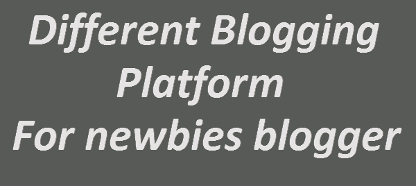 Different blogging platform