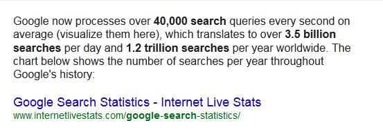 Google search per second