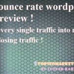 Zero bounce rate WordPress plugin review 2017 – Latest Discount code.