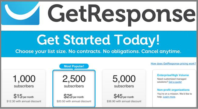Cheap  Getresponse Autoresponder Offers For Students